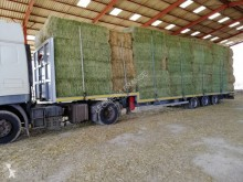 Leciñena porte paille, neuf surbaissé, extension arrière pneumatique semi-trailer new straw carrier flatbed