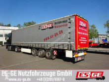 Sættevogn Krone 3-Achs-Sattelanhänger - Schiebeplane - Coilm. flatbed brugt