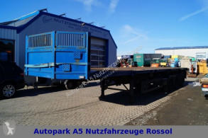 Schmidt SP 37,6 E/12,8 Stahltransport Lenk ausziehb. semi-trailer used flatbed