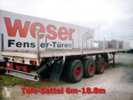Flatbed semi-trailer TSA 32 TANG TSA 32 Blattgefedert, Tele-Sattel 6m-18.8m