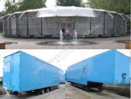 Semirimorchio furgone SAnh SAK17 2x WILLE SAK17 Kofferauflieger für mobile Austellungshalle, Jumbo Mega