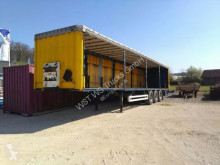 Krone heavy equipment transport semi-trailer SDP 27 mit Rungen