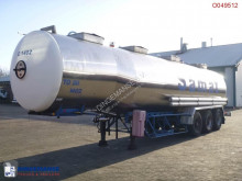 Magyar Chemical tank inox 33 m3 / 4 comp. semi-trailer