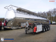 Semitrailer Clayton Chemical/Oil tank inox 30 m3 / 8 comp + pump/counter tank begagnad