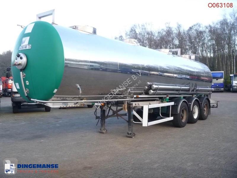 Voir les photos Semi remorque Maisonneuve Chemical tank inox 30 m3 / 1 comp