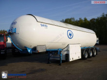 Robine Gas tank steel 49 m3 + pump semi-trailer used gas tanker