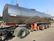 Trailor FUEL/ CARBURANT- INOX - 31.300Litres - STEEL SPRING / SUSP. LAMES! +PUMP semi-trailer used tanker