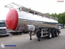 Clayton Food tank inox 30 m3 / 1 comp semi-trailer used food tanker