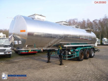 BSLT Chemical tank inox 30 m3 / 1 comp semi-trailer used chemical tanker