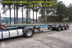LAG CONTAINER CHASSIS - PORTE CONTAINER - 2x 20ft - 1x 40ft - BPW AXLES - AIR SUSPENSION semi-trailer