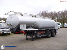 Semirimorchio Fuel tank alu 22 m3 / 7 comp + steering axles cisterna usato