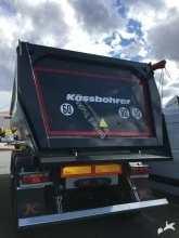 Kässbohrer construction dump semi-trailer BENNE ACIER PORTE AR HYDRAULIQUE 27 m3 DISPO IMMEDIATEMENT
