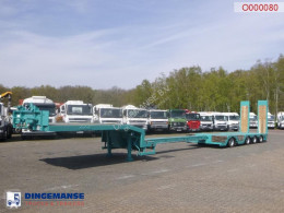 Nooteboom heavy equipment transport semi-trailer 4-axle semi-lowbed trailer extendable 15.6 m + ramps