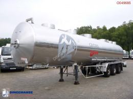Magyar Chemical tank inox 32.6 m3 / 1 comp semi-trailer used chemical tanker