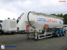 Náves cisterna Feldbinder Vacuum powder tank alu 49 m3 + engine/compressor