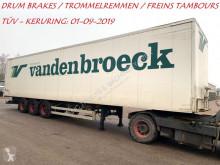 Van Hool 3-AS GESLOTEN BAK - CLOSED BOX - CAISSE FERMEE - BPW - FREINS TAMBROUS / DRUM BRAKES / TROMMELREMMENMEN - PAPIERS BELGES - CT 01 semi-trailer
