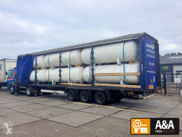 Semi remorque 12 X GAS LPG TANK LOADED ON 13.60 TRAILER citerne occasion