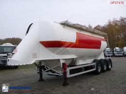 Naczepa Feldbinder Powder tank alu 38 m3 / 1 comp cysterna używana