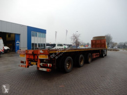 Nooteboom flatbed semi-trailer Flat trailer / Extendable / Double montage / 3x steering axle / twislocks