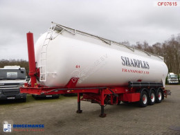 Feldbinder Powder tank alu 58 m3 (tipping) semi-trailer used tanker