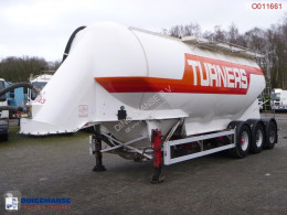 Feldbinder Powder tank alu 38 m3 / 1 comp semi-trailer used tanker