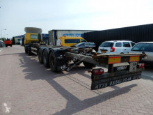 Semitrailer containertransport Van Hool : Extendable, BPW axles, Drum brakes