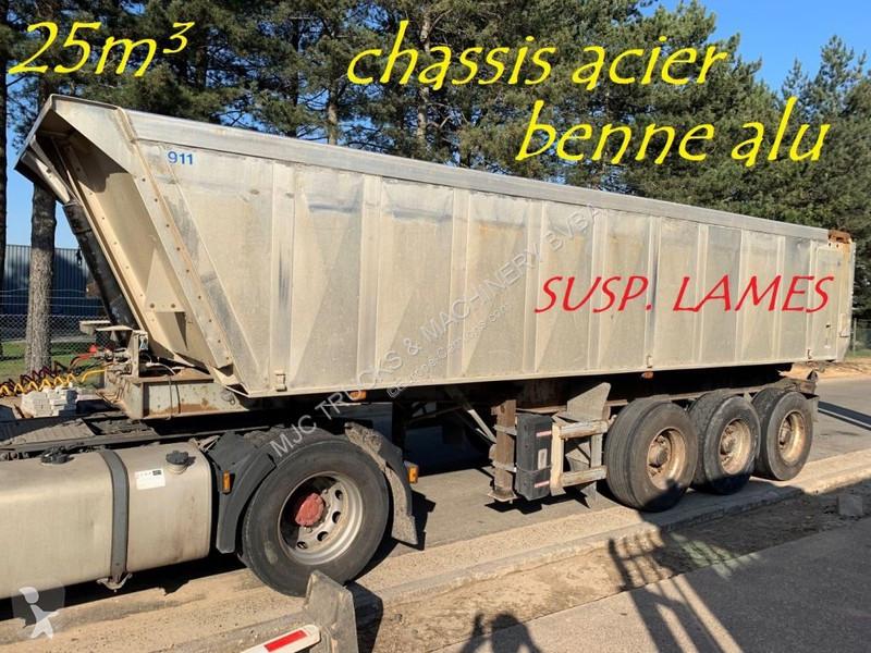 View images Trailor 25m³ BENNE CLINKER - 3 ESS. SMB - CHASSIS ACIER / BENNE ALU - SUSP. LAMES - STEEL CHASSIS / ALU TIPPER - STEEL SPRING semi-trailer