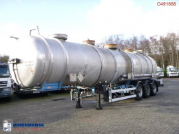 Magyar chemical tanker semi-trailer Chemical / ACID tank inox 38 m3 / 3 comp