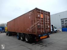 Van Hool 40 FT chassis / With container! / Steel suspension Auflieger