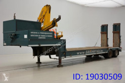 Gheysen et verpoort Low bed trailer + crane semi-trailer used heavy equipment transport