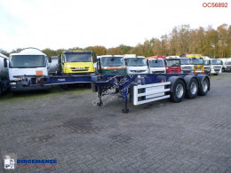 Semi remorque porte containers SDC container trailer 20-30 ft + pump