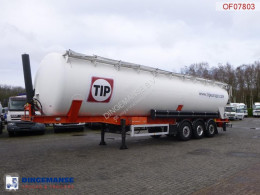 Feldbinder Powder tank alu 63 m3 / 1 comp semi-trailer used tanker