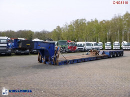 Semitrailer King 4-axle lowbed trailer 104 t / 9.6 m / 4 steering axles platta begagnad