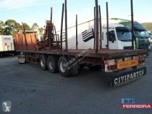 Used timber semi-trailer Rohr aberta para madeira c/grua