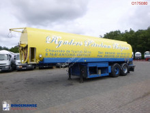 EKW Fuel tank alu 32 m3 / 5 comp + pump semi-trailer used tanker