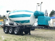 Euromix semi-trailer used concrete mixer concrete