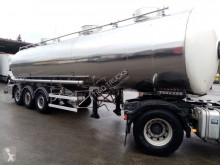 Semiremorca Magyar OPLEGGER VOOR LEVENSMIDDELEN 31000 L - 3 COMP. - CHASSIS IN INOX cisternă transport alimente second-hand
