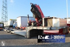 Pavelli carrellone 2 assi con gru fassi usato semi-trailer used heavy equipment transport