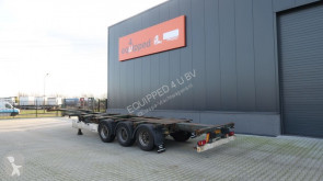 Semi remorque Krone 40FT HC, empty weight: 5.280kg, extendable at the rear, NL-Chassis, BPW porte containers occasion