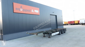 Semi remorque Krone 40FT HC, leeggewicht: 5.280kg, achter-uitschuifbaar, NL-Chassis, BPW porte containers occasion