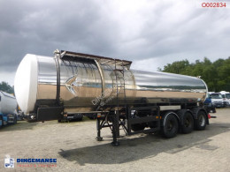 Bitumen tank steel 25 m3 / 1 comp + pump semi-trailer used tanker
