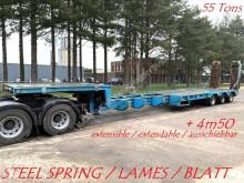 nc CASTERA LOW BED / PORTE CHAR / TIEFBETT - 55 TONS - EXTENDABLE / AUSSCHIEBBAR / EXTENSIBLE (7m50 + 4m50) LOWBED - STEEL semi-trailer