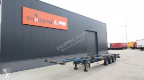 Semi remorque Krone 45FT-HC, BPW, achter uitschuifbaar, NL-chassis porte containers occasion