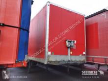 Used box semi-trailer Samro Fourgon express Porte relevante