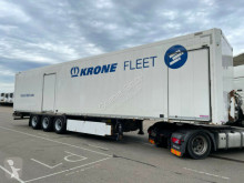 Semitrailer transportbil Krone SDP 27/ STAHLKOFFER TEXTIL / 2 x TÜRE