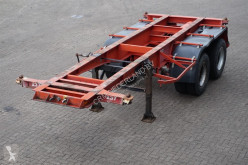 Van Hool Container chassis 20ft / Steel suspension semi-trailer