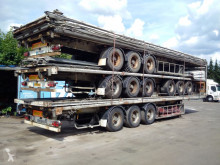 félpótkocsi Fruehauf STACK of 4 / 5 curtainside trailers - all drum brakes - all parts included