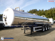 Guhur Chemical tank inox 22.2 m3 / 1 comp semi-trailer used chemical tanker