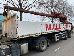 ATM 2 AS + HIAB 300-4 semi-trailer used flatbed