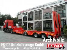 Sættevogn nc Es-ge 3-Achs-Satteltieflader mit Radmulden flatbed brugt